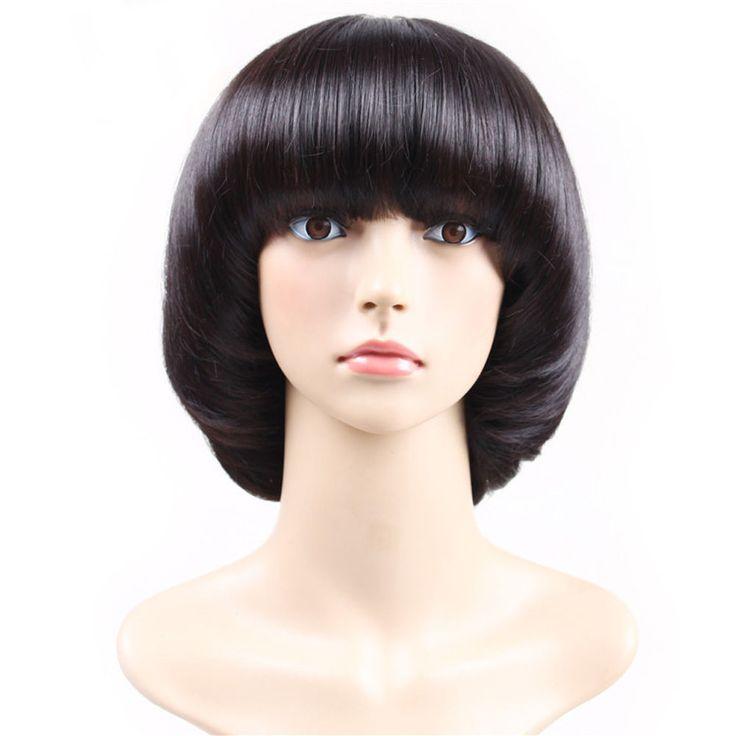 25 bsta mushroom haircut iderna p pinterest quick weave womenladiesgirls cosplay wig of brilliant black mushroom haircut w neat bangs urmus Gallery