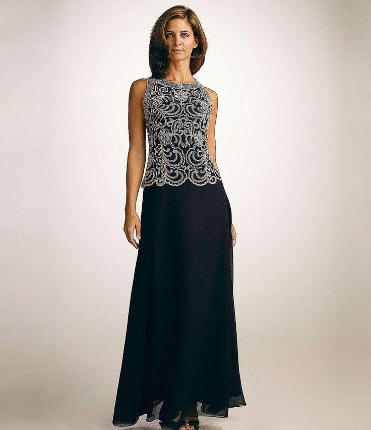 Jkara Petite Beaded Chiffon Gown   Dillards.com