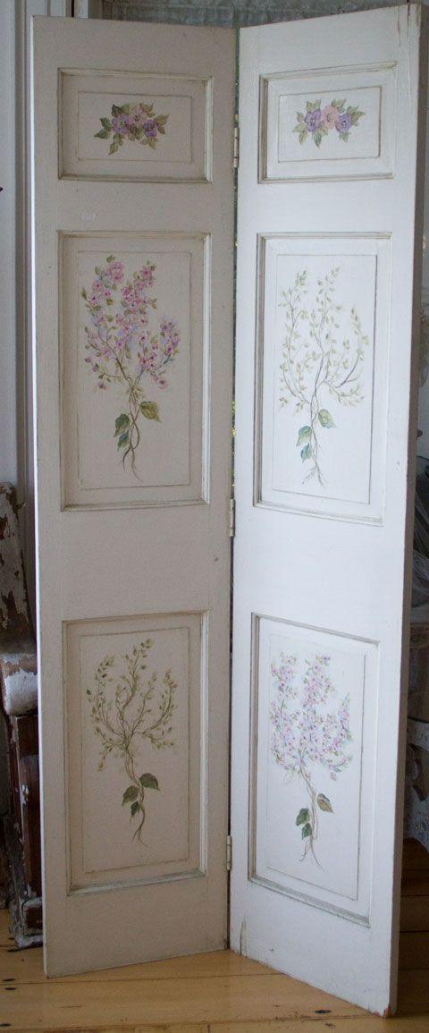 Hand painted Wood doors-hand painted wood doors, shabby chic
