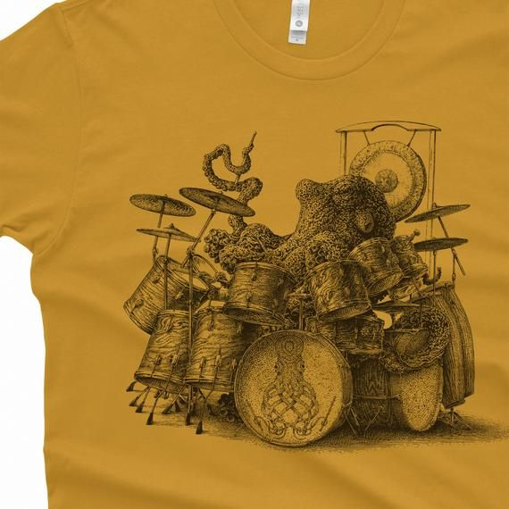 Artistic Animal Men/'s T-shirt Octopus Ink Splattered