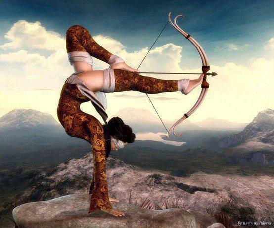"""The most beautiful """"archer"""" I have ever seen ... she takes my breath away"""
