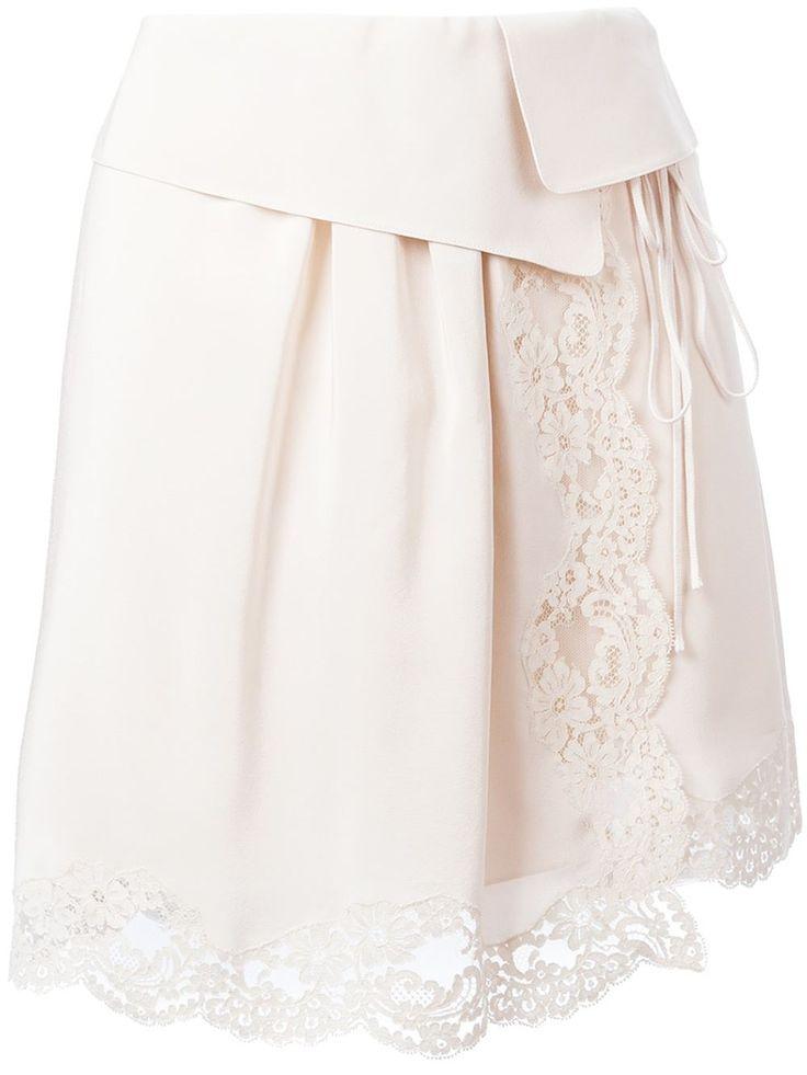 Chloé Lace Detail Skirt - Jean Pierre Bua - Farfetch.com