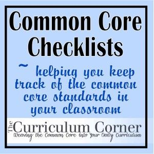 Checklists organized by subject and grade level