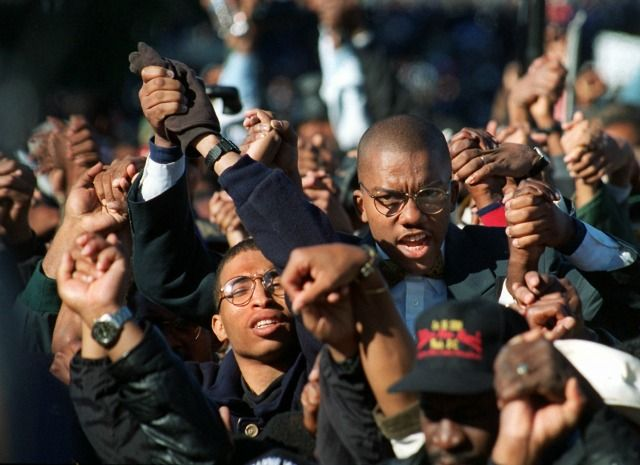 Million Man March Took Place On Washington's National Mall 1995