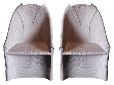 Betty Cobonpue Swirl Chairs