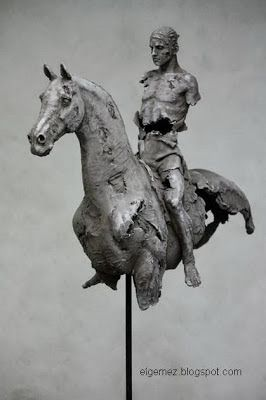 Christophe Charbonnel : Cheval 11 70.5 x 60 x 20 cm Bronze