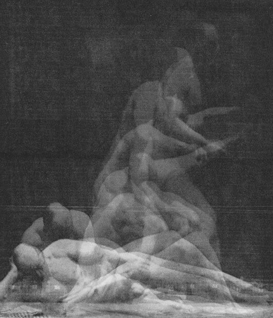 Eadward Muybridge, I like this because although all of them are the same person and it creates a abstract image in a way and its hard to make out at first glance what exactly is happening.