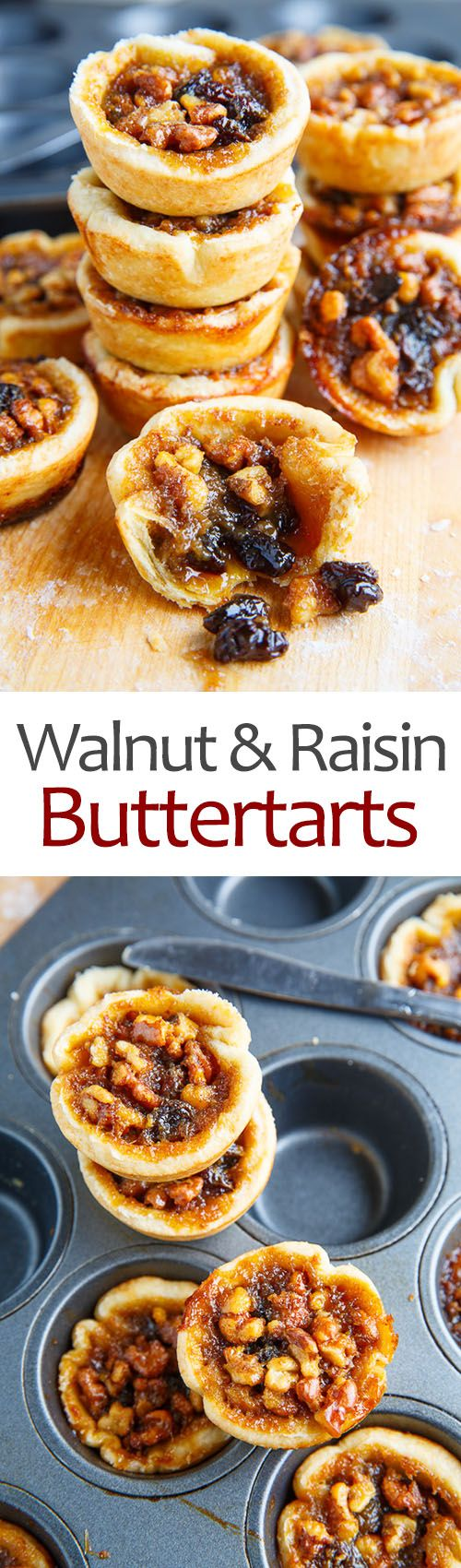 Walnut & Raisin Butter Tarts