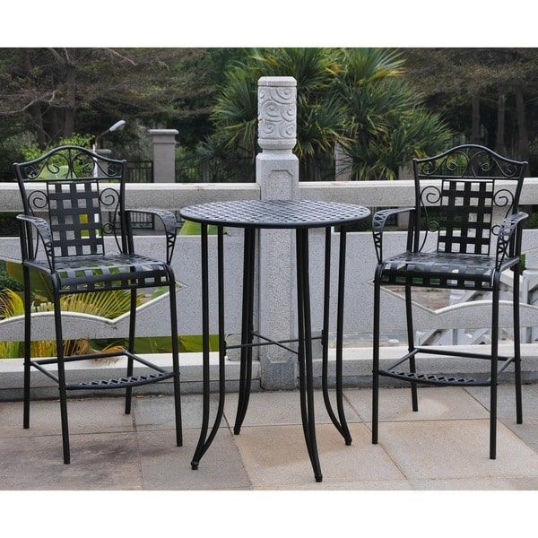 Beautiful 3 Piece Outdoor Bar Sets