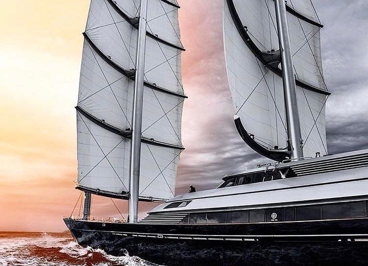 88m | Maltese Falcon She was built by Perini Navi in 2006. With a beam of 12.9 m and a draft of 6 m she has a steel hull and aluminium superstructure. This adds up to a gross tonnage of 1110 tons. She is powered by engines giving her a maximum speed of 24 knots and a cruising speed of 16 knots. The sailing yacht can accommodate 12 guests in 6 cabins. The yacht was designed by Ken Freivokh Design.