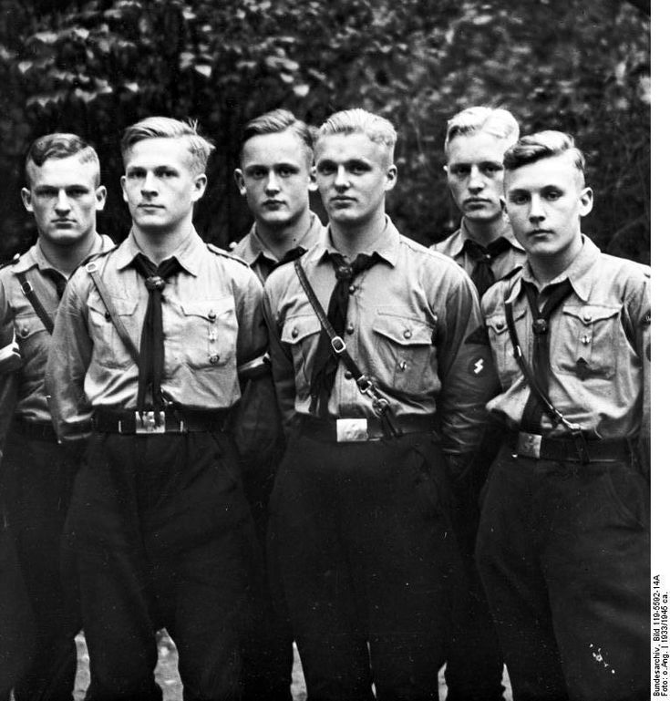 A group of Hitler Youth members, date unknown | World War II Database