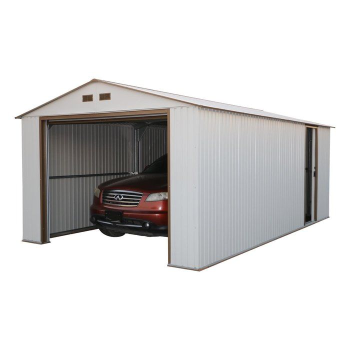 Imperial 12 Ft W X 20 Ft D Metal Garage Shed Metal Garages Garage Shed Shed