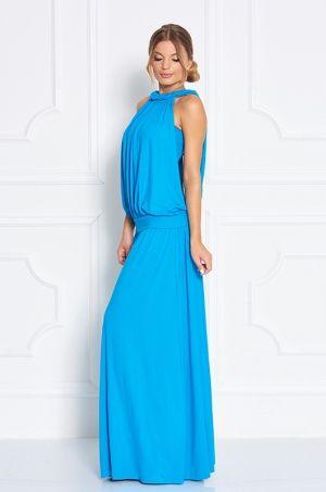 Štýlové dlhé letné šaty so zaujímavým strihom, najmä zadná časť v oblasti chrbta - čiastočne odhalená. K šatám je dolpnená aj lambáda vo farbe šiat. Vhodné na každodenné nosenie.
