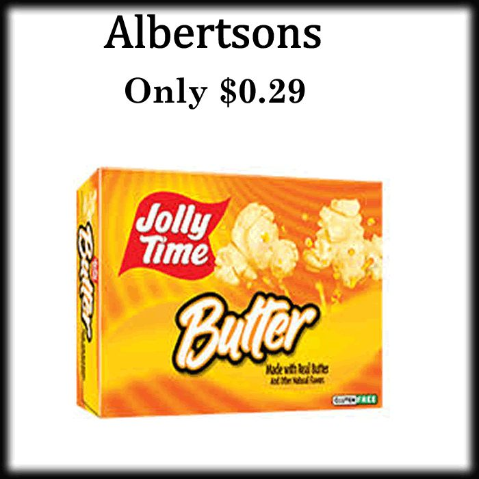 I love popcorn!! What's your favorite? - http://dealmama.com/2017/06/albertson-jolly-time-popcorn-0-29/