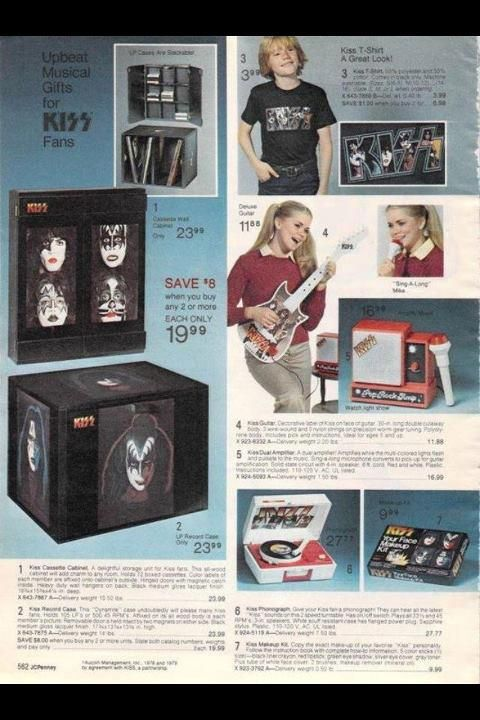 Sears Catalog, 1979 - KISS Merchandise