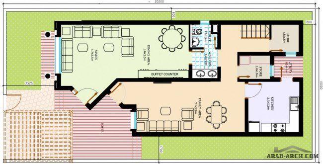 مخطط بيت دورين مساحة200م مخطط فله بمساحة200م تصاميم متنوعة بمساحة200م مخططات دورين House Plans Easy Home Decor Floor Plans