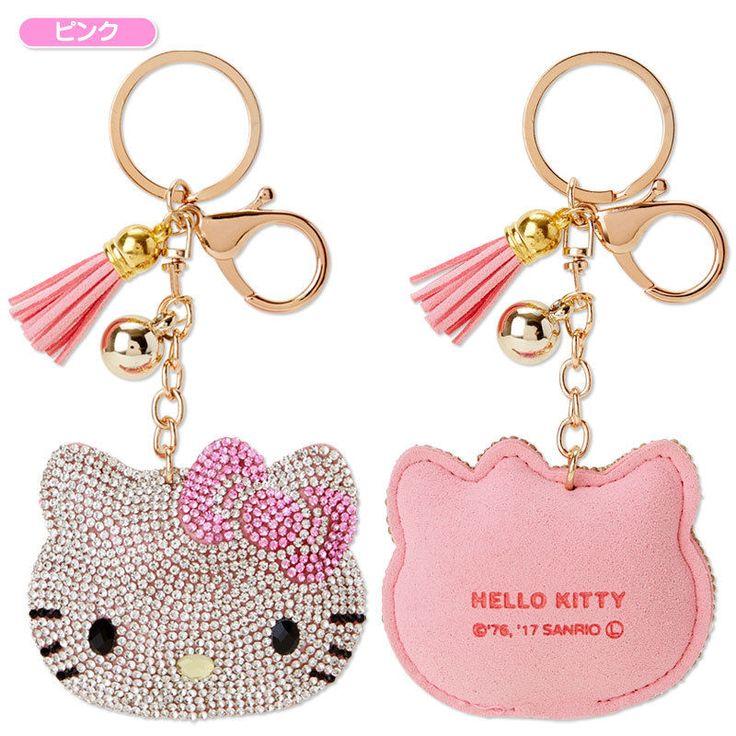 Hello Kitty Glitter Key Ring Sanrio Kawaii Japan f/s