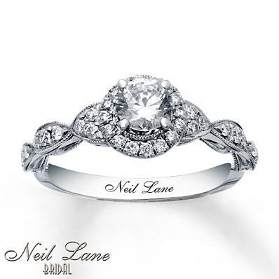 Neil Lane Engagement Ring 3/4 ct tw Diamonds 14K White Gold