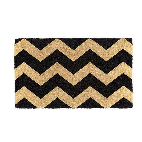 New For Spring: Chevron Stripe Coir Mat By Ballard Designs I Really Really  Want This Door Mat!