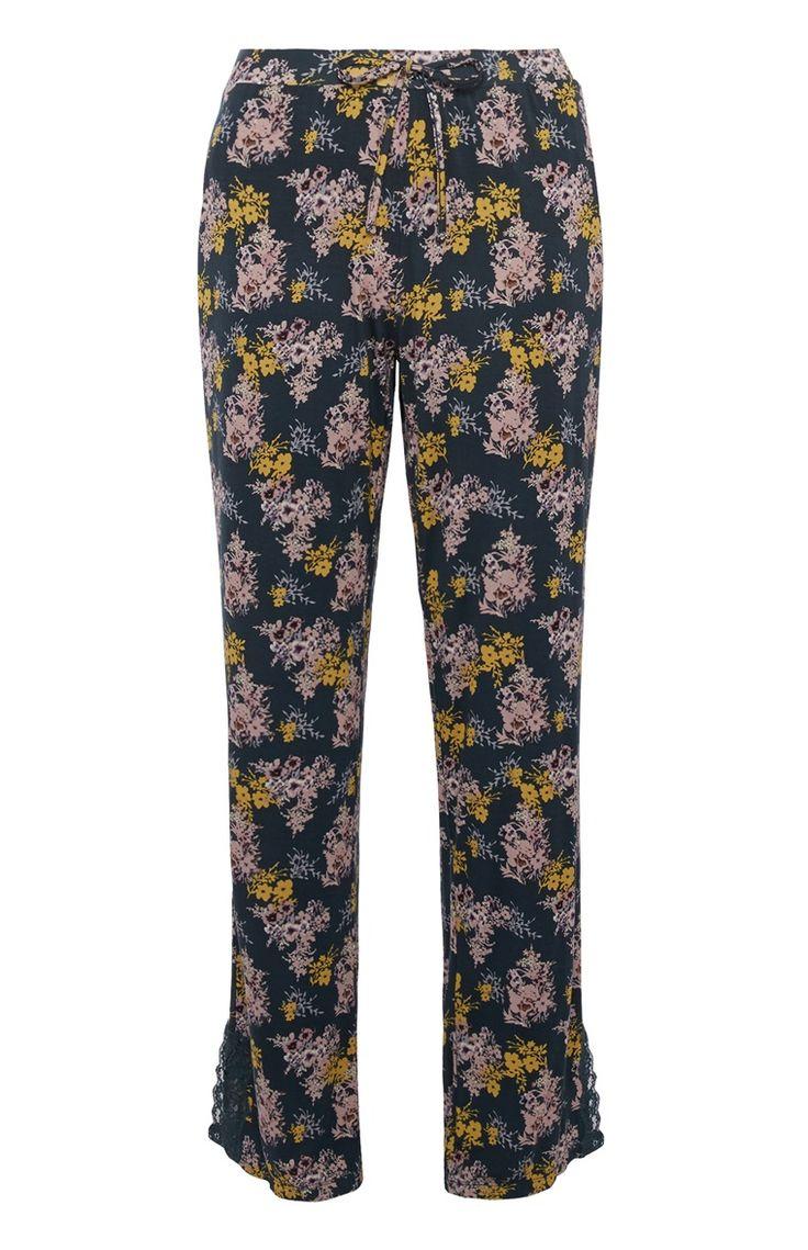 Gebloemde pyjamabroek