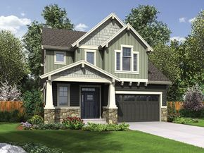 This compact yet efficiently designed Craftsman plan has the all the coziness of a bungalow cottage. Among it's features are a large open living space, first floor master, small private office and an upper level with a loft and three additional bedrooms.