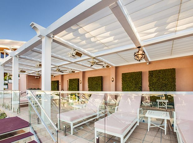 Retractable Canopies at The Beverly Hills Hotel | ShadeFX Canopies