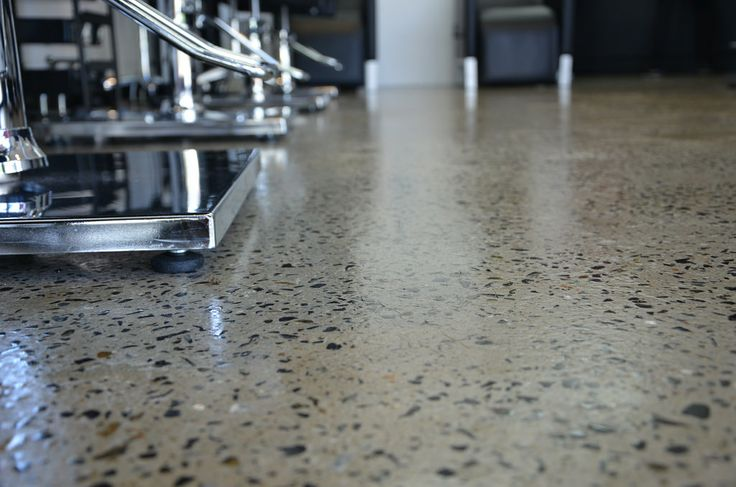 Salon Grind and Seal Polished Concrete #concrete #grindandseal #polishedconcrete