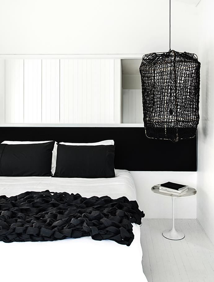 Monochrome master bedroom. | Photo: Felix Forest  | Story: Belle