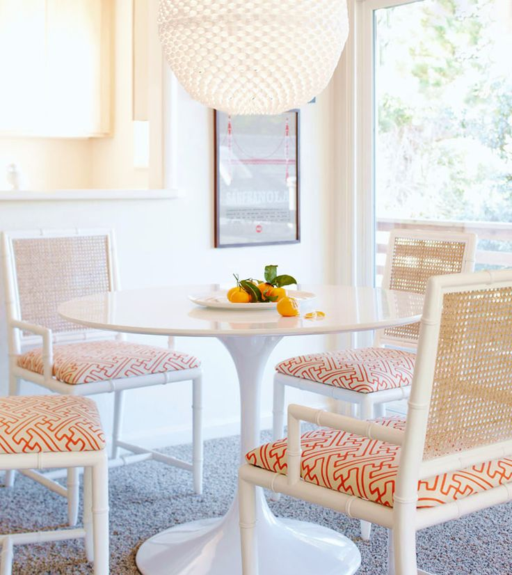 Paint my chairs white and add new fabric.  Quadrille, China Seas, Alan Campbell, Home Couture