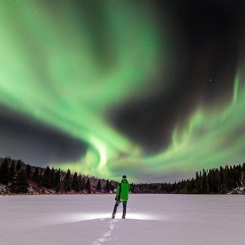 Northern Lights above Cold Lake, Alberta