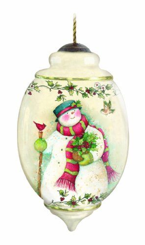 Ne'Qwa is the art of hand-painting scenes in reverse on the inside of the glass. Each ornament is an original work of art, created in exquisite shapes and sizes