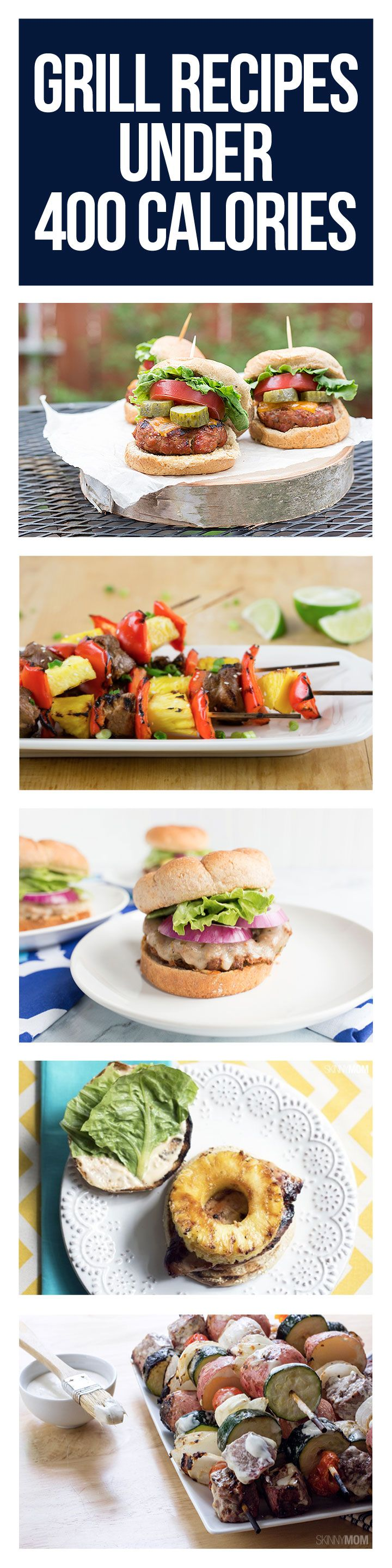 Fire up your grill for these skinny recipes.
