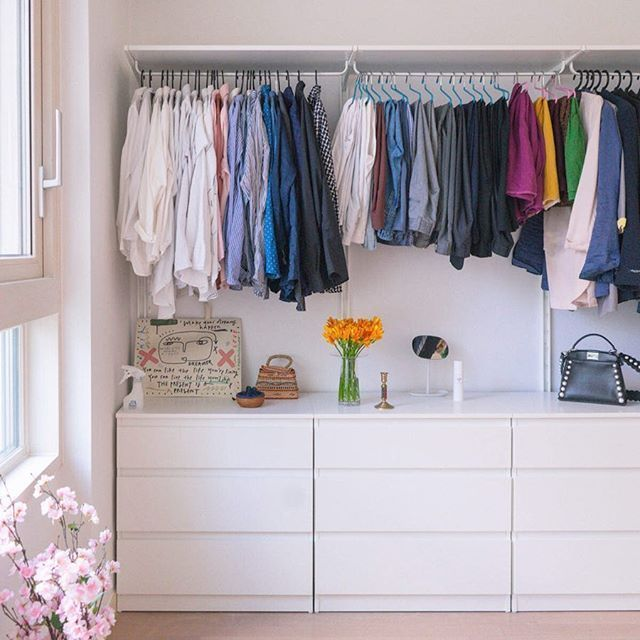 Ikea Einrichtungsideen Kleiderschrank Ideen Babybett Begehbarerkleiderschrank In 2020 Ikea Home Ikea Interior Bedroom Organization Closet