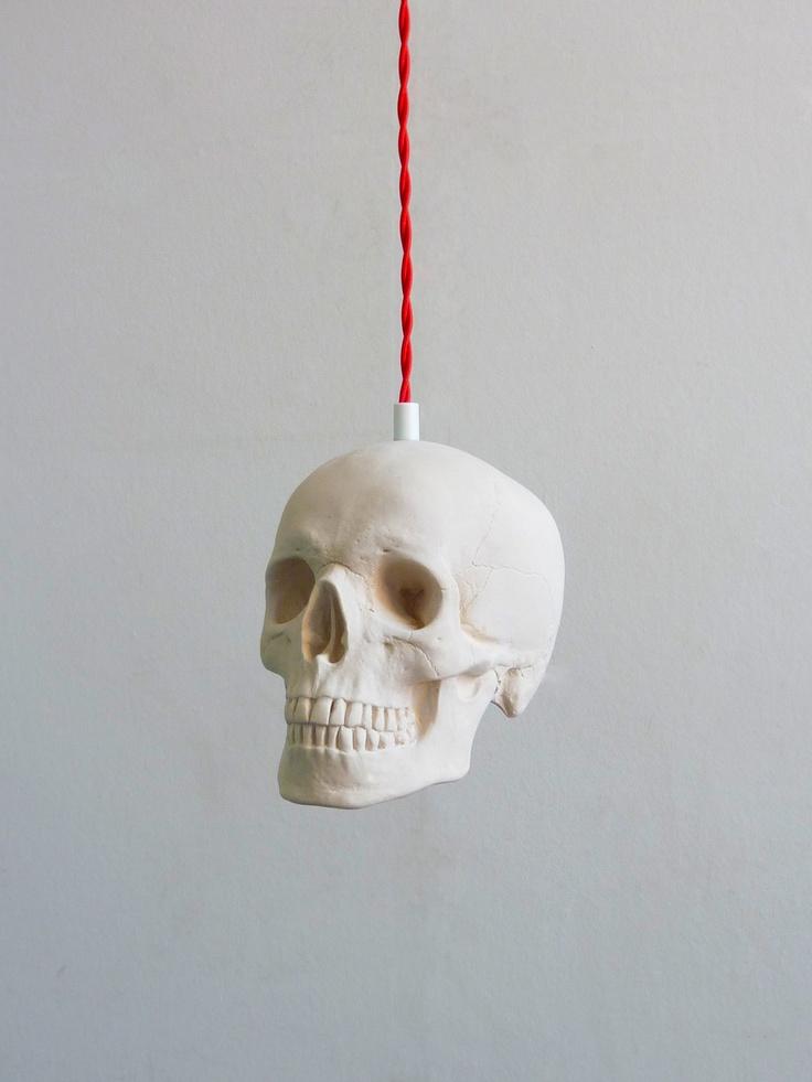 Skull Pendant Light. £50.00, via Etsy.