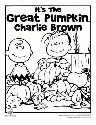 Best 25 charlie brown halloween ideas on pinterest for Great pumpkin charlie brown coloring pages