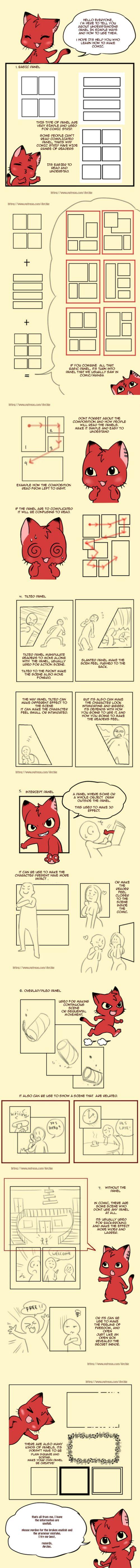 Simple Comic Panel Tutorial by chervenkotka. Patreon: https://www.patreon.com/Archie?ty=a via http://artist-advice.tumblr.com