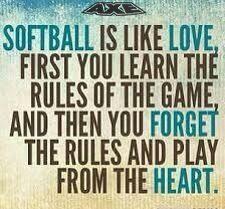 Softball=Love