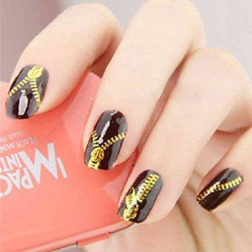 Mode Galerie Sticker Autocollant Ongle Tips Guide French Décor Manucure Nail Art Tattoo Sticker Zip: Tweet Water decal autocollants à…