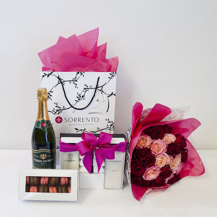 BUY NOW | Grand San Valentino Hamper with champagne, roses, macaroons and Charlotte Rhys | Valentines Day Gifting | Sorrento Events Online Shop
