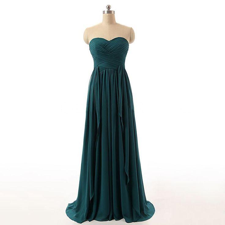 Affordable Sweetheart Bridesmaid Dresses, Chiffon Bridesmaid Dresses with…