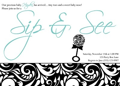 Baby Shower invite for a shower after the baby is born