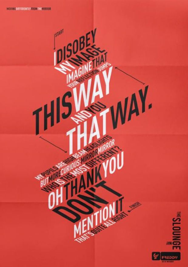 A great example of how type can be used on it's own to convey a message.
