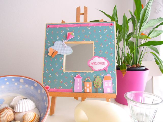 Beautiful decorated mirror - the perfect addition to your home!