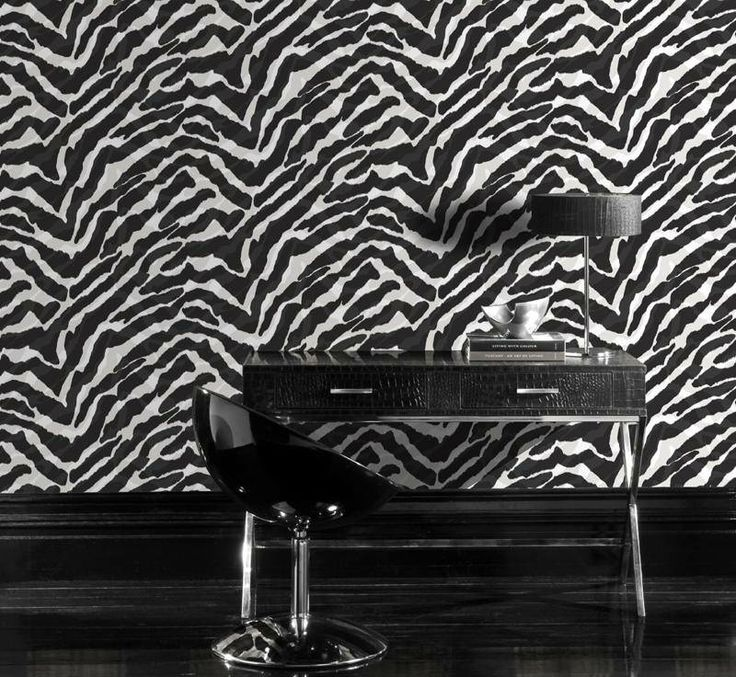 Papel Tapiz De Animal Print En Blanco Y Negro En VENTA. Animal Print  Wallpaper