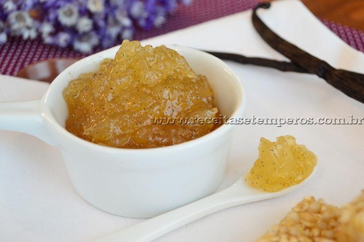 Geleia de pera, baunilha e limão | Receitas e Temperos