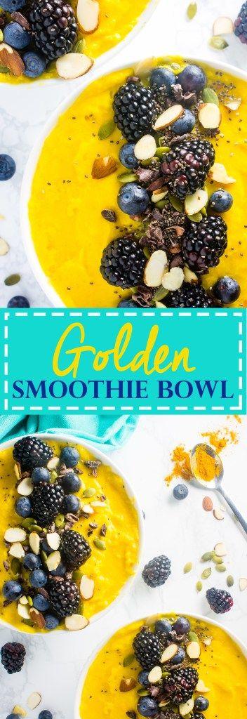 Golden Smoothie Bowl - Lean Green Nutrition Fiend