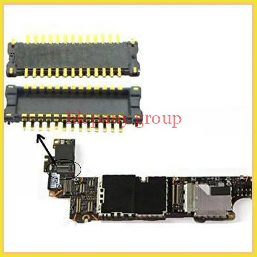 Гибкая печатная плата коннектор для iPhone 4 4 g 4S жк-дисплей экран на материнской плате платы, 5 шт. / много