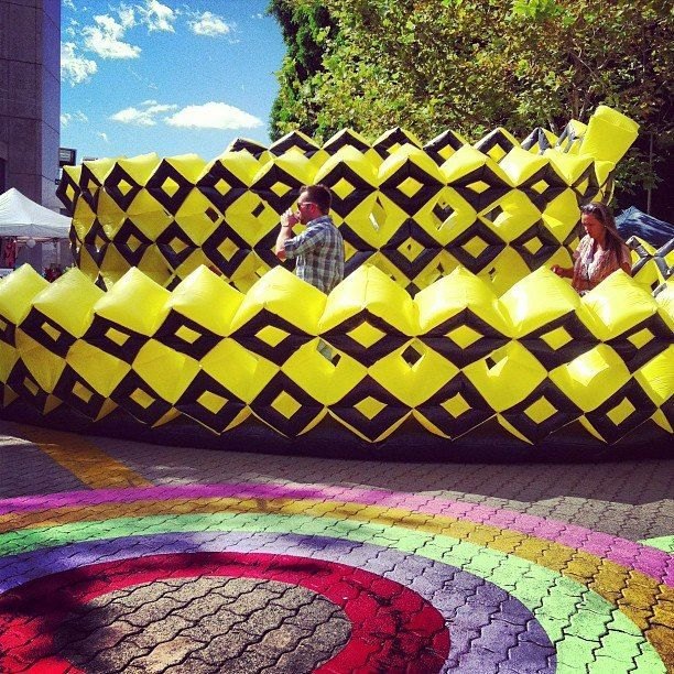 Beehive kickstart Festival 2013 #colour #inflatable #Perth #artist