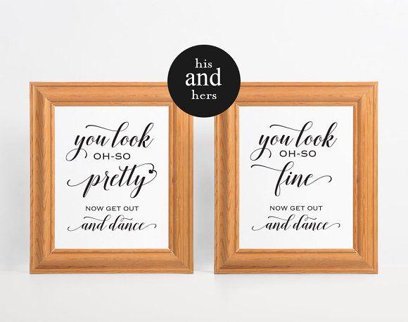 Wedding Bathroom Signs by WeddingPrintablesCo on @creativemarket