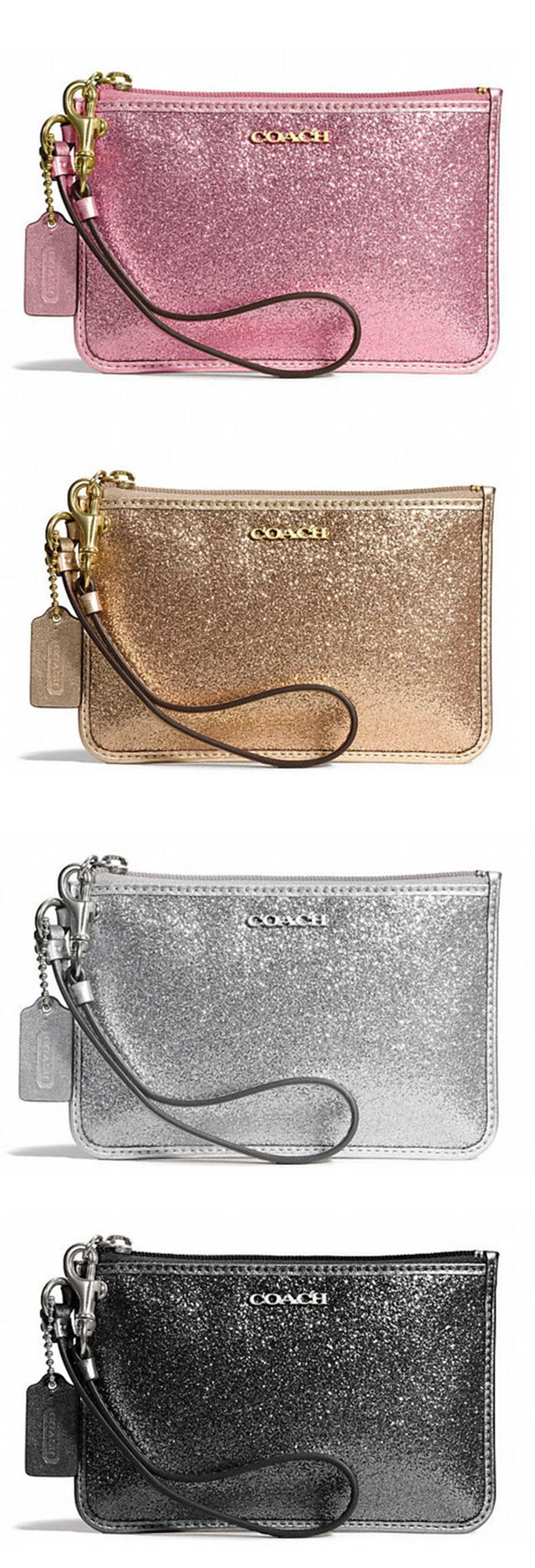 :D COACH Sparkly Wristlets - I'll take one in each color, please! ($ 48) | The Mindful Shopper